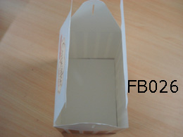 White Card Paper Cupcake Box with Die cutting Handles
