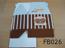 Foldable Printed Cupcake boxes