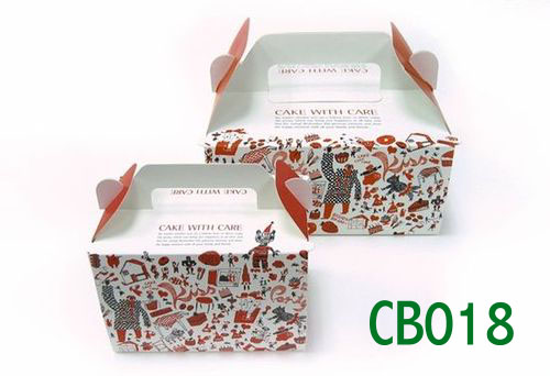 cake boxes with full colours printed,cake box with die cutting handle