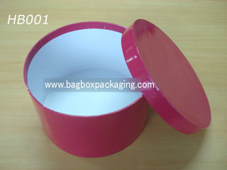 Red color Round Cake Box